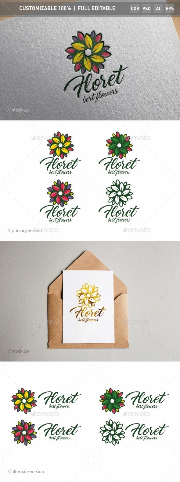 Floret Logo Template - Objects Logo Templates