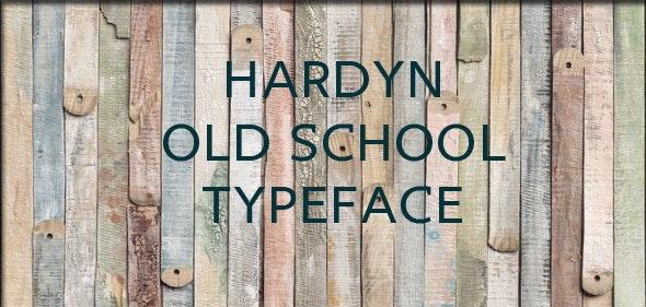 Hardyn typeface - Old English Decorative