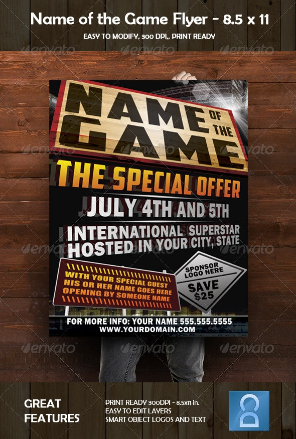 Name Of The Game Event Flyer - Events Flyers