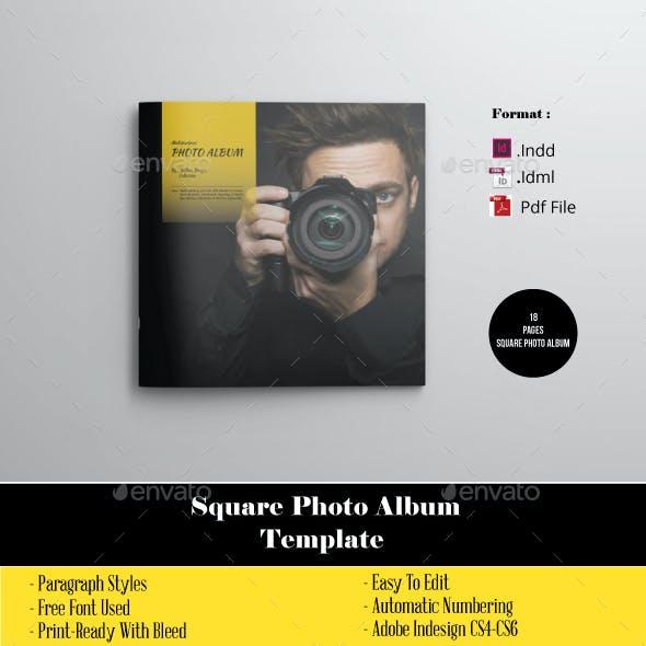 18 Pages Square Photo Album Portofolio Photographer
