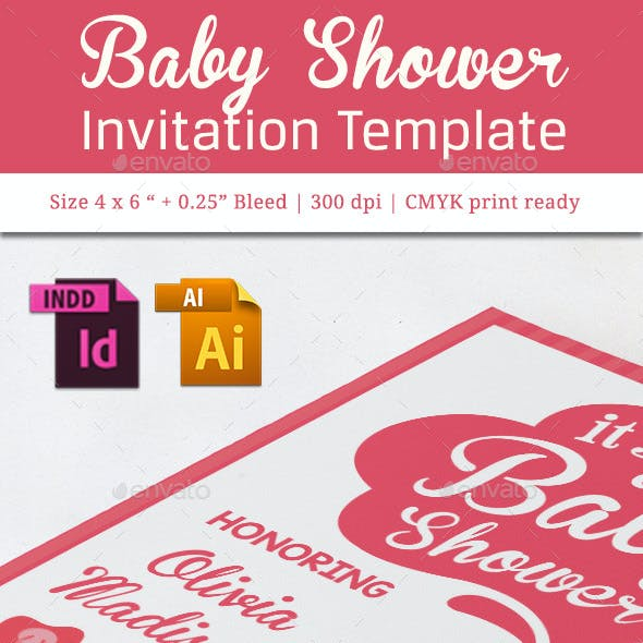 Baby Shower Template - Vol. 16
