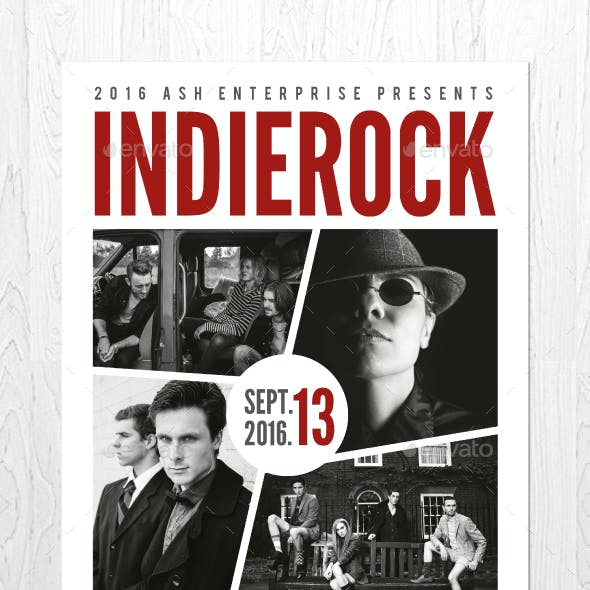 Indie Rock Flyer