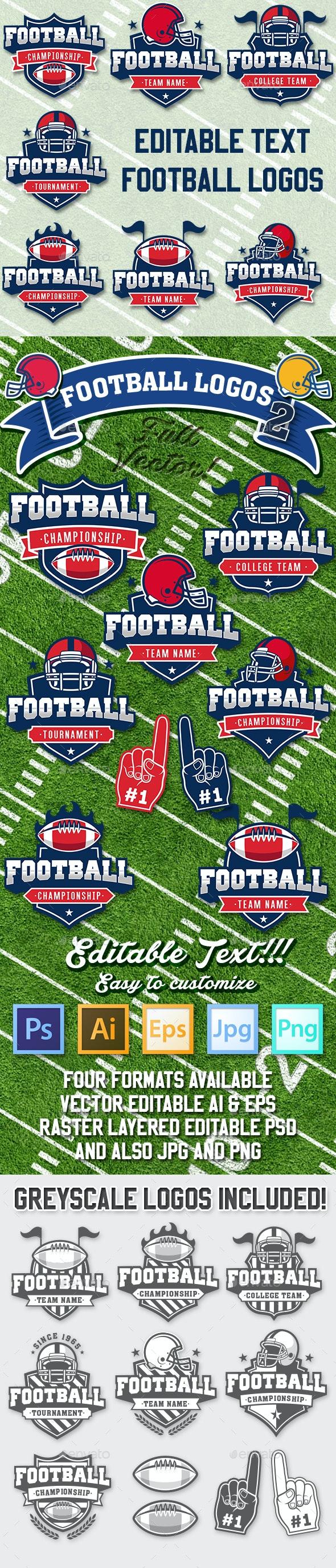 American Football Vector Logos Vol.2 - Sports/Activity Conceptual