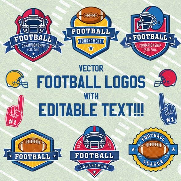 American Football Vector Logos