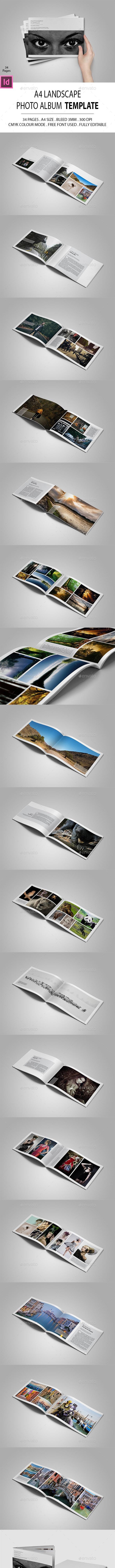 A4 Landscape Photo Portfolio - Photo Albums Print Templates