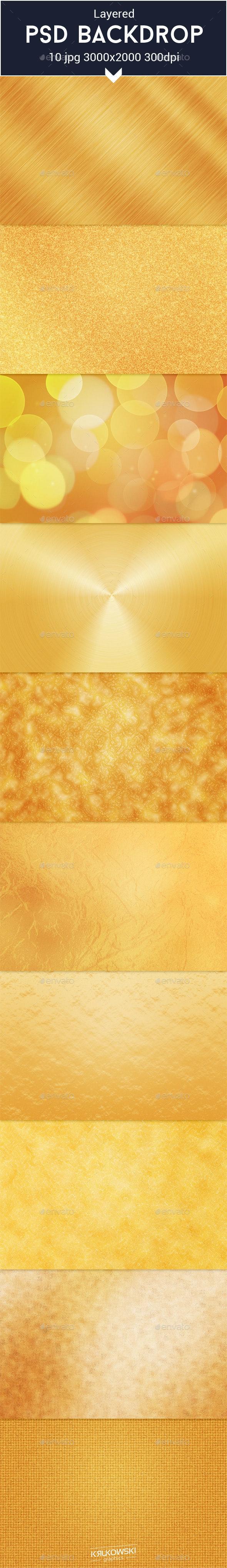 Gold Texture PSD - Patterns Backgrounds