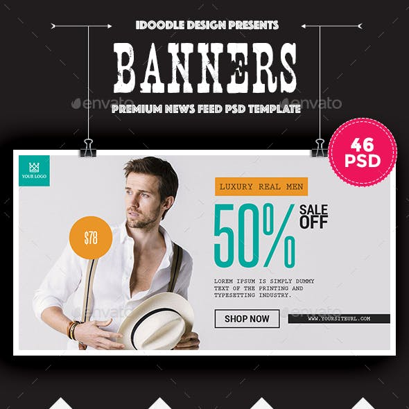 News Feed Product Banners Ads - 46 PSD [02 Size Each]