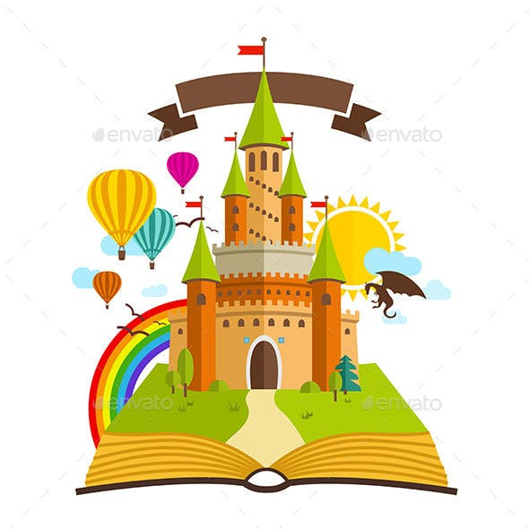 Fairy Tale Castle with Book