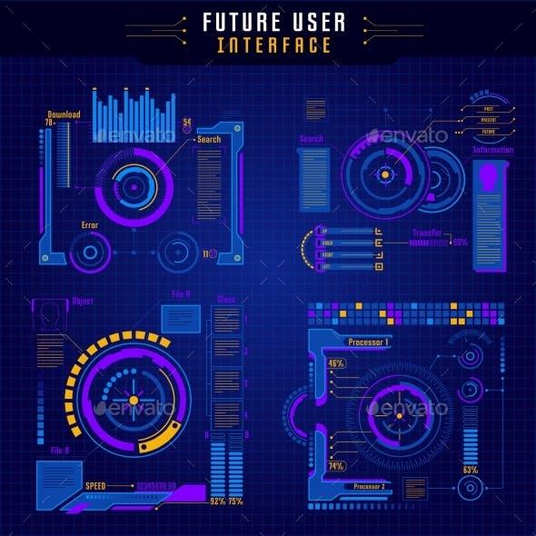Future User Interface Icon Set