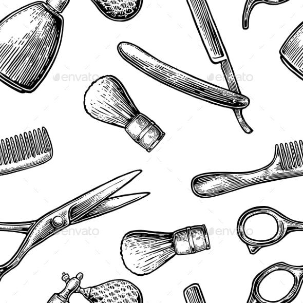 Seamless BarberShop Pattern