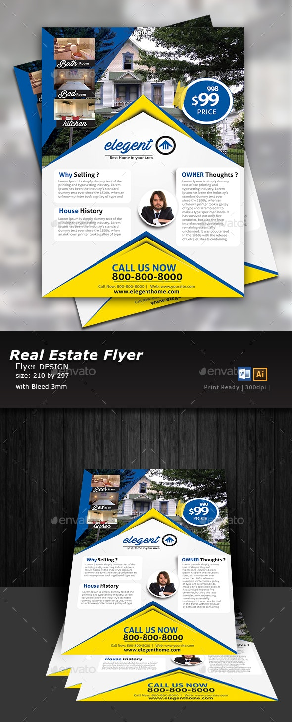 House For Sale Flyer Design  - Flyers Print Templates