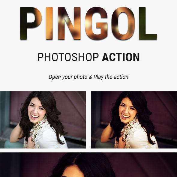 PINGOL | Brown Lighting Effect Photoshop Actions