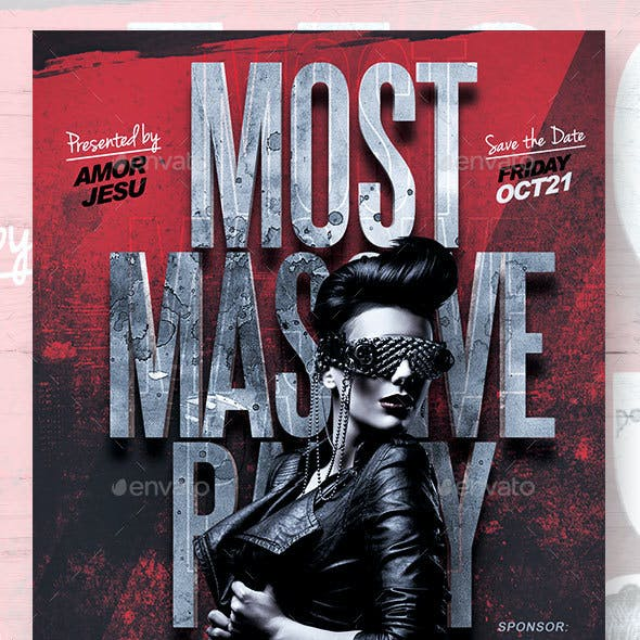 Most Massive Party Flyer Template