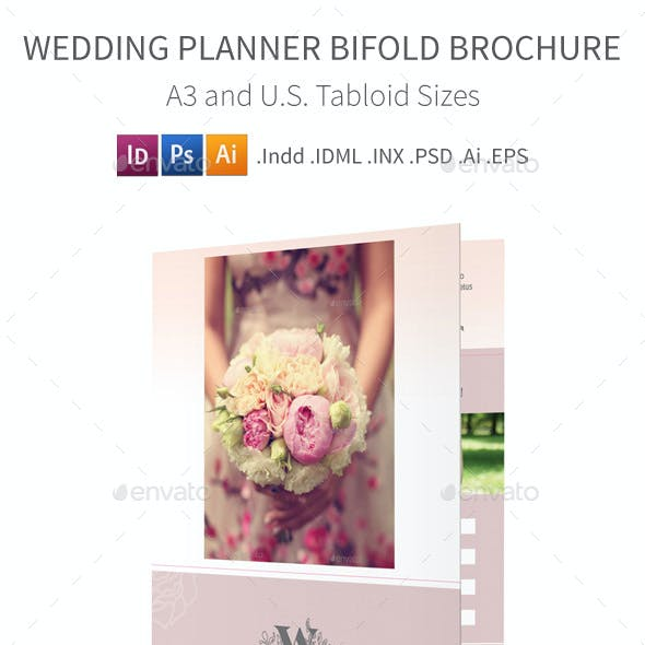 Wedding Planner Bifold / Halffold Brochure