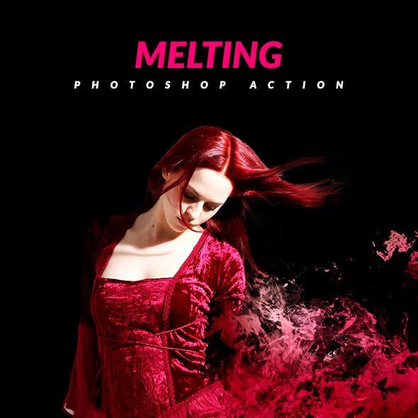 Melting Photoshop Action