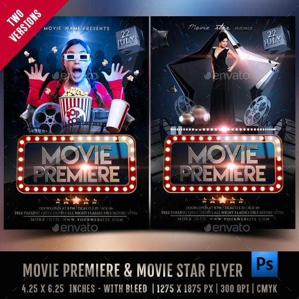 Movie Premiere & Movie Star Flyer