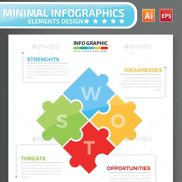 Minimal Puzzle Infographics Design