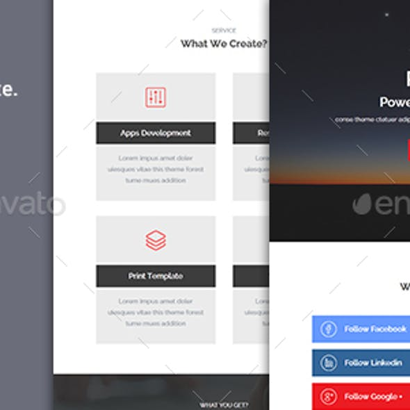 Relic - PSD Email Template