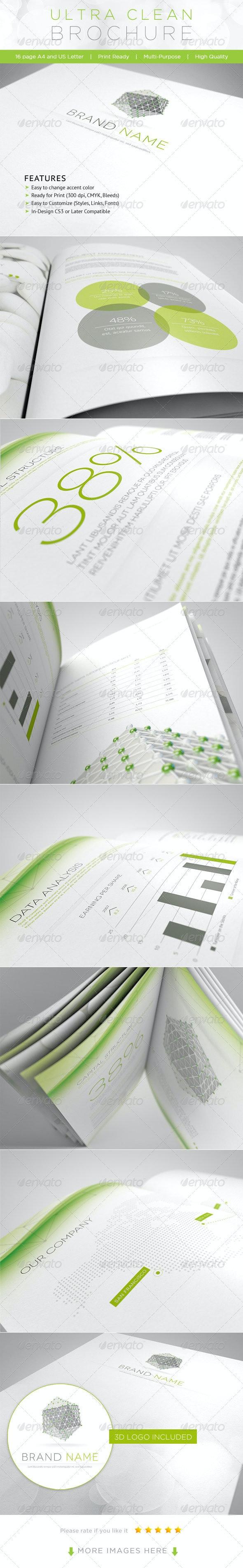 Ultra Clean Brochure - Corporate Brochures