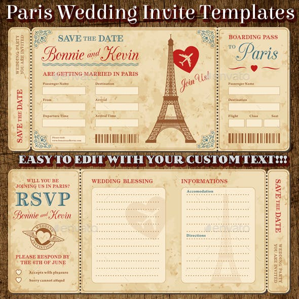 Wedding Invite Tickets