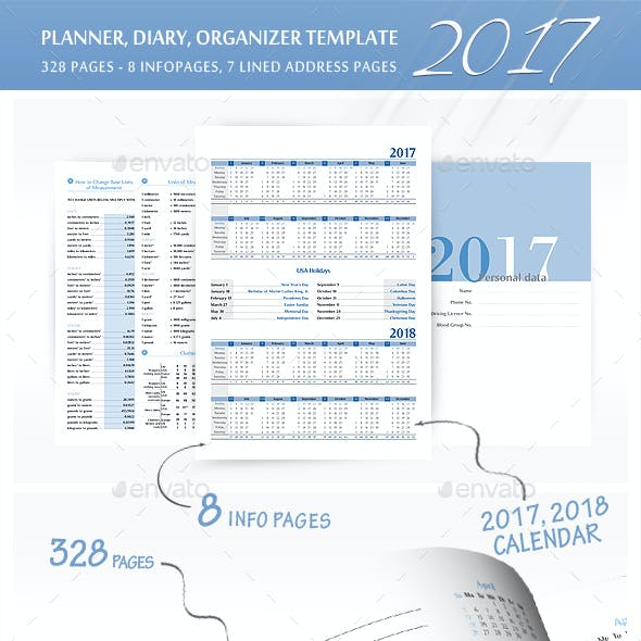 Planner, Diary, Organizer 2017