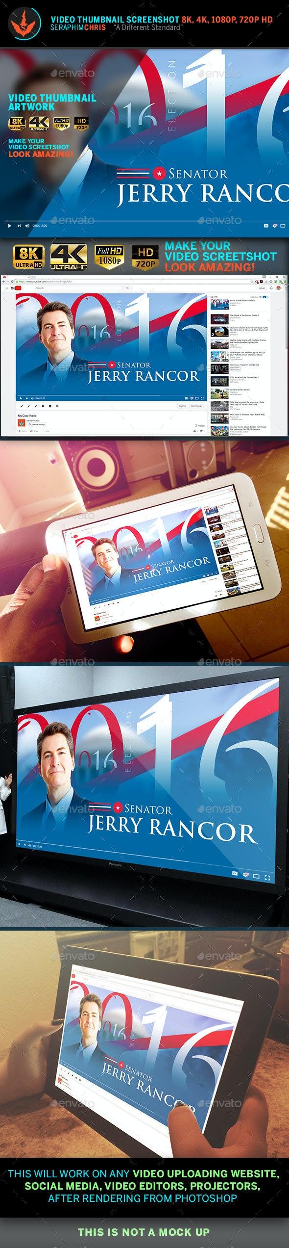 Political YouTube Video Thumbnail Screenshot Template - YouTube Social Media