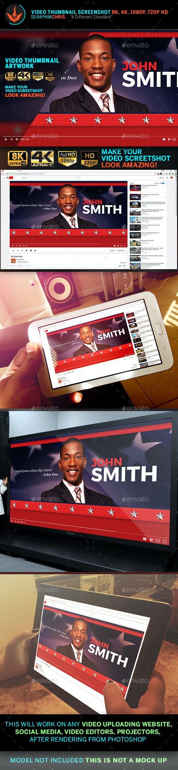 Political YouTube Video Thumbnail Screenshot Template 4 - YouTube Social Media