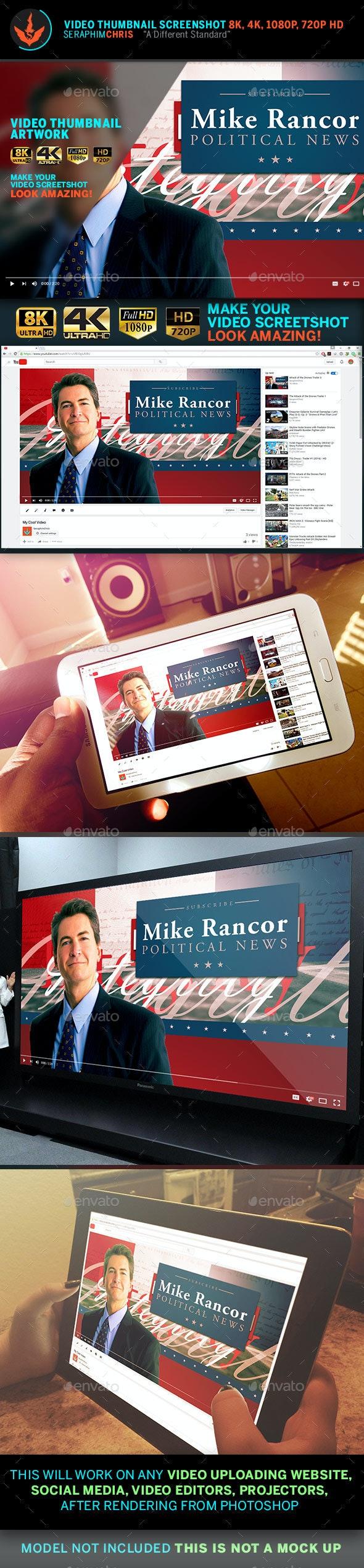 Political YouTube Video Thumbnail Screenshot Template 7 - YouTube Social Media