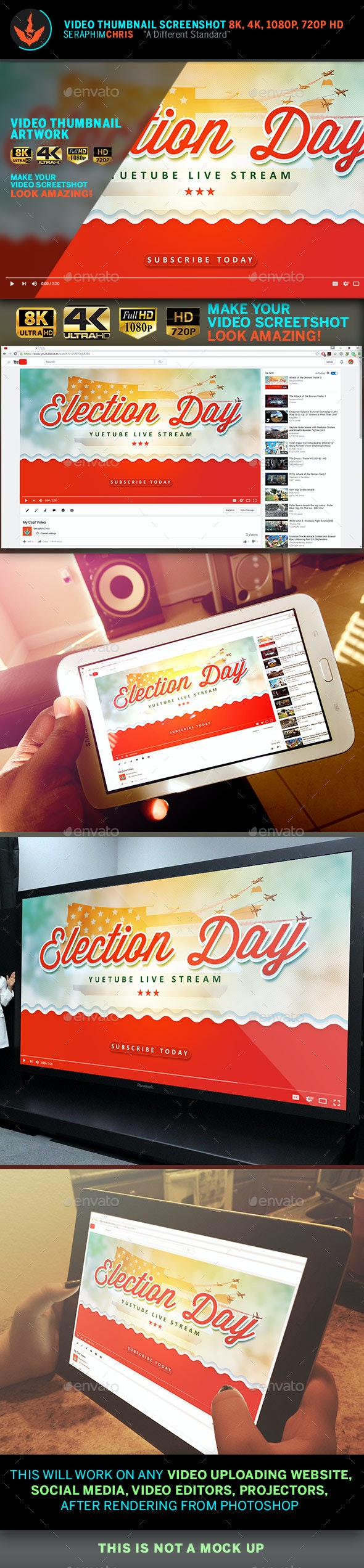 Political YouTube Video Thumbnail Screenshot Template 8 - YouTube Social Media