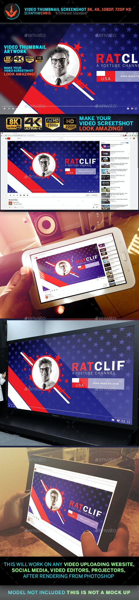 Political YouTube Video Thumbnail Screenshot Template 9 - YouTube Social Media