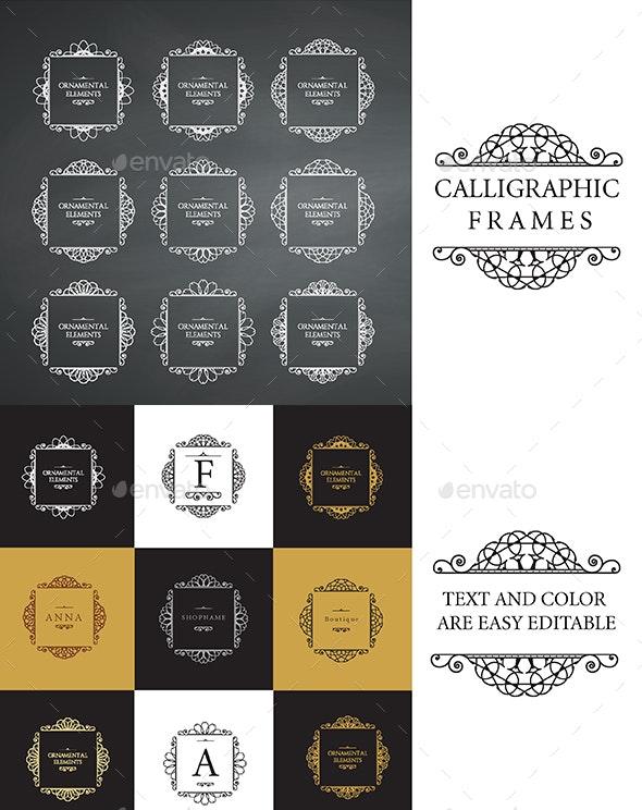 Calligraphic Frame Design - Borders Decorative