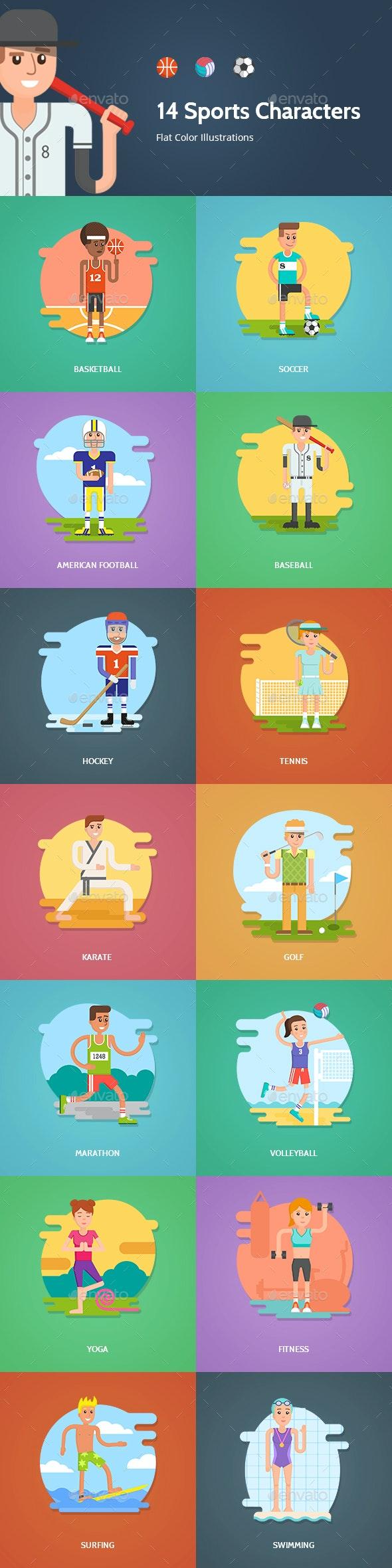 Sports Vector Characters Set - Characters Vectors