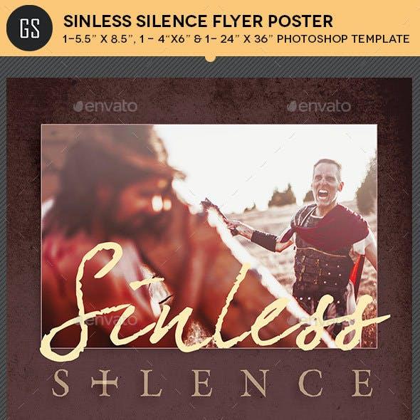 Sinless Silence Flyer Poster Template