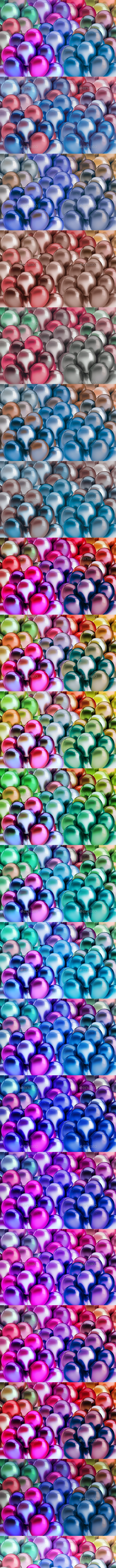 Background Colorful Balloons - 3D Backgrounds