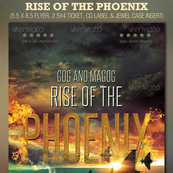 Rise of the Phoenix Flyer, Ticket and CD Template