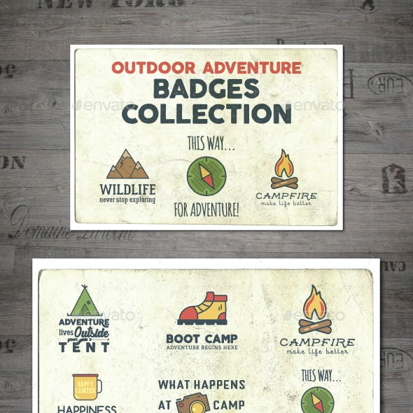 Outdoor Adventure Badges Collection