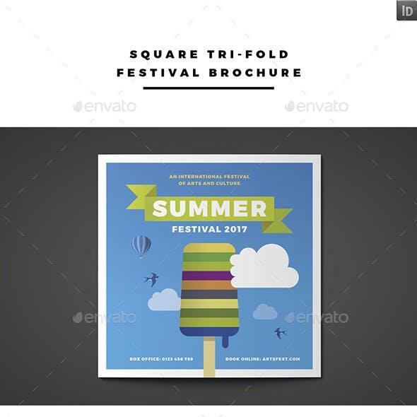 Square Tri-fold Festival Brochure