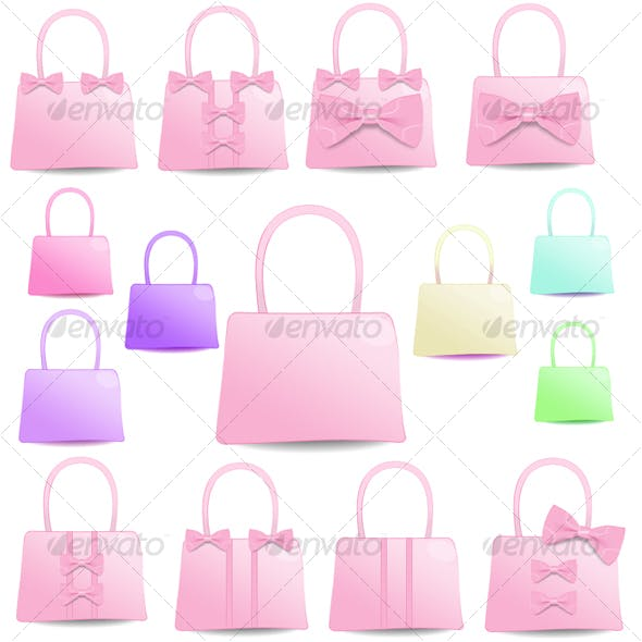 Pretty Ribbon Bag Icon