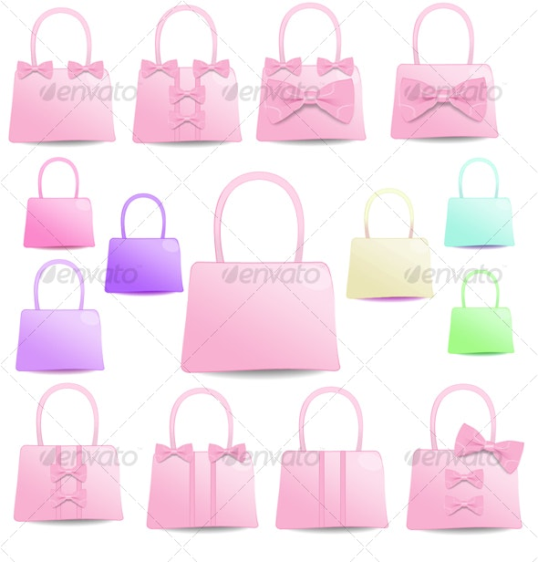 Pretty Ribbon Bag Icon - Objects Icons