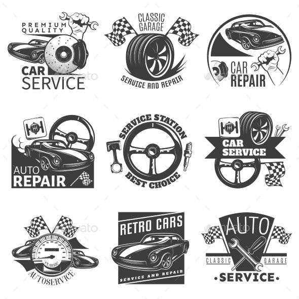 Car Repair Emblem Set - Services Commercial / Shopping