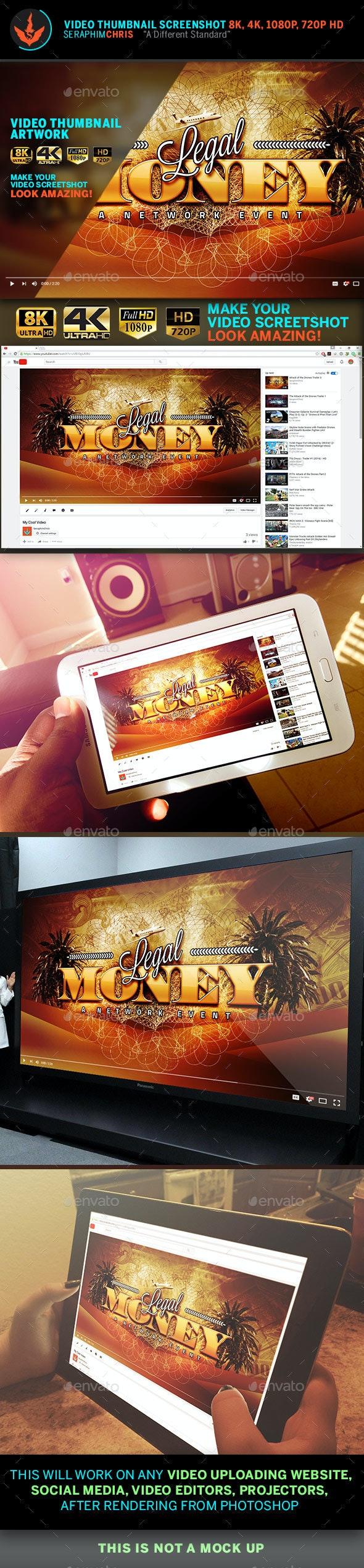 Legal Money YouTube Video Thumbnail Screenshot Template - YouTube Social Media