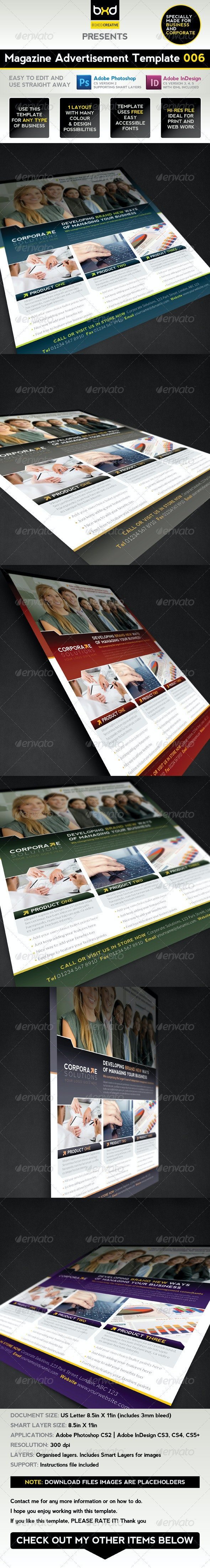 Magazine Advert Template 006 - Corporate Flyers