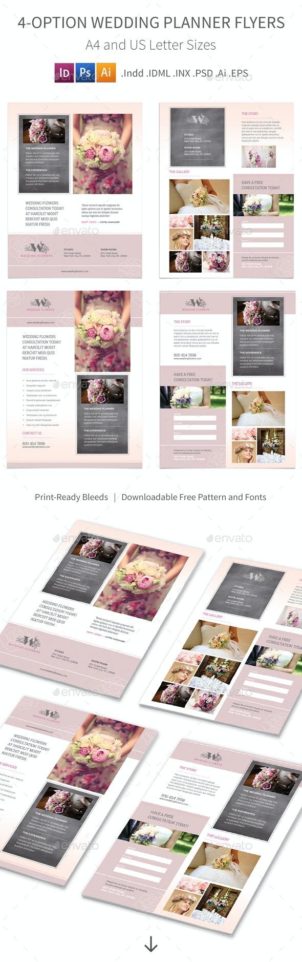 Wedding Planner Flyers – 4 Options - Corporate Flyers