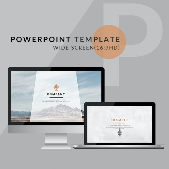 Orange - Clean trend business PowerPoint Templates