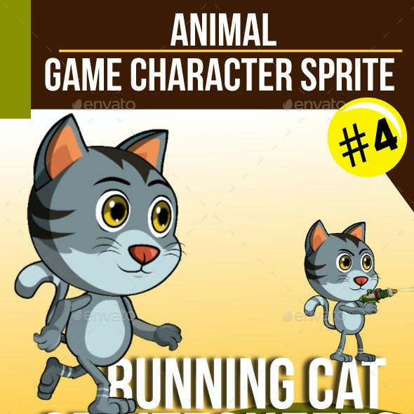 Game Character : Running Cat