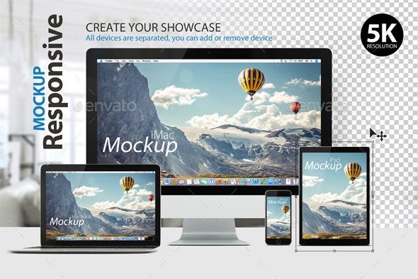 Responsive Mockup for Presentations - Multiple Displays