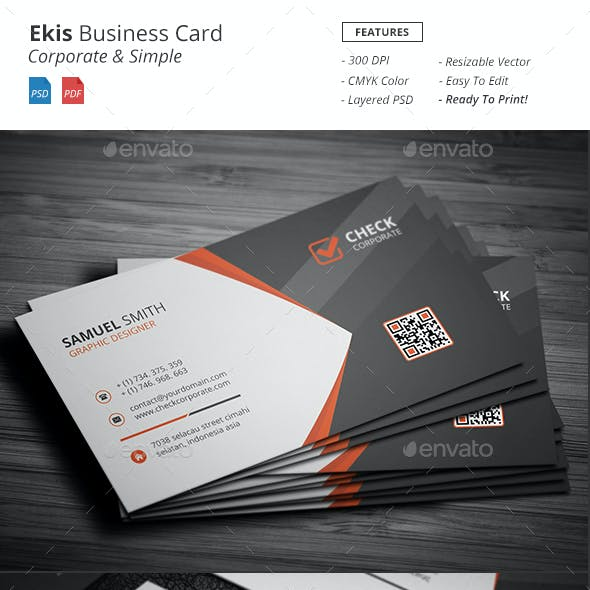 Ekis - Corporate Business Card