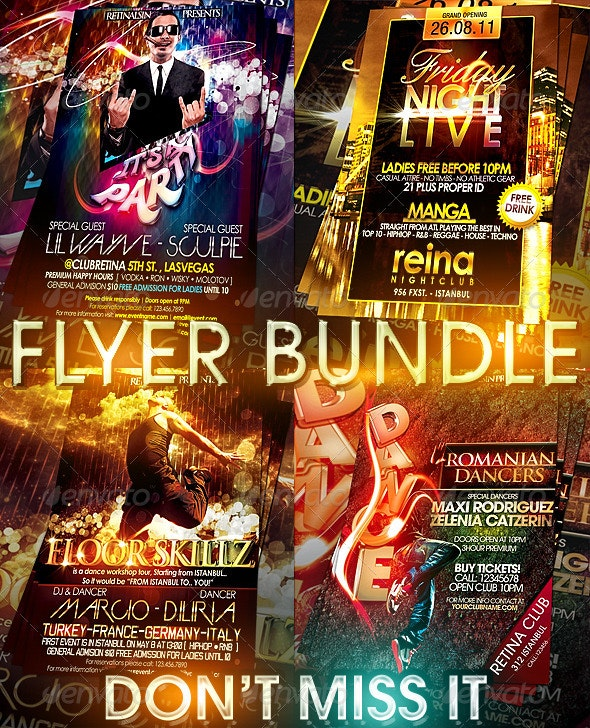 Flyer Bundle - 4in1 - Clubs & Parties Events