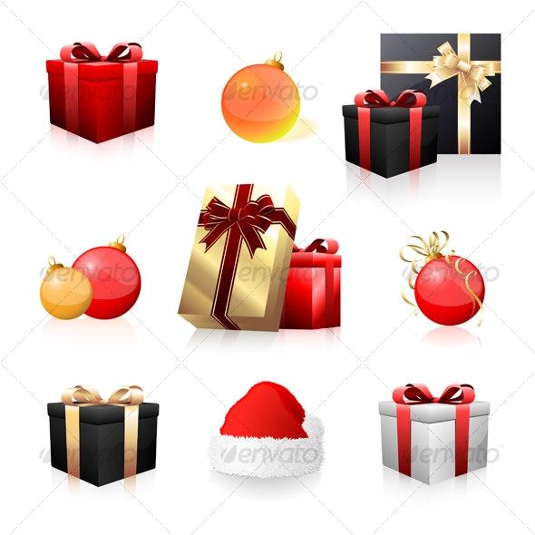 Holiday icon collection  - Christmas Seasons/Holidays