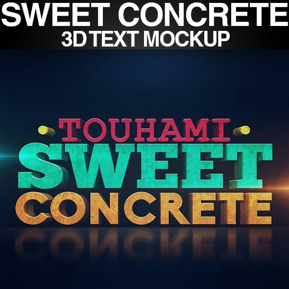 Sweet Concrete 3D Text Mockup